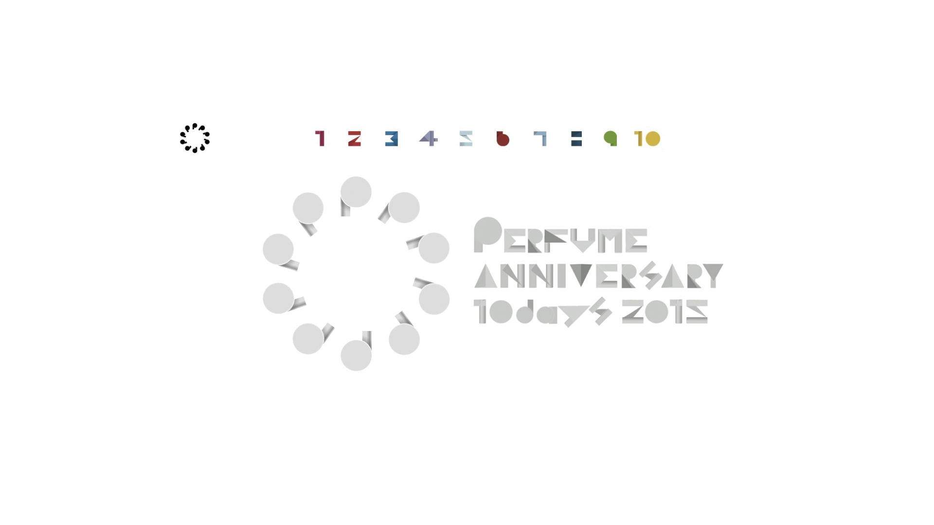 Perfume Anniversary 10days 2015 PPPPPPPPPP LIVE 3:5:6:9 /LOGO
